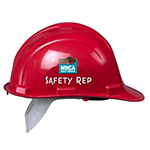 MHCA safety rep helmet